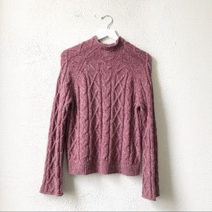 Universal Thread | Pink Marled Cable Knit Sweater